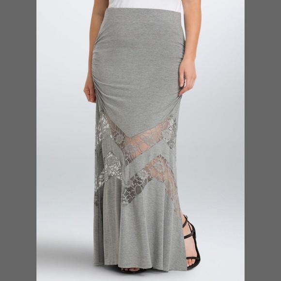 torrid Dresses & Skirts - NWT TORRID Long Lace Inset Maxi Skirt